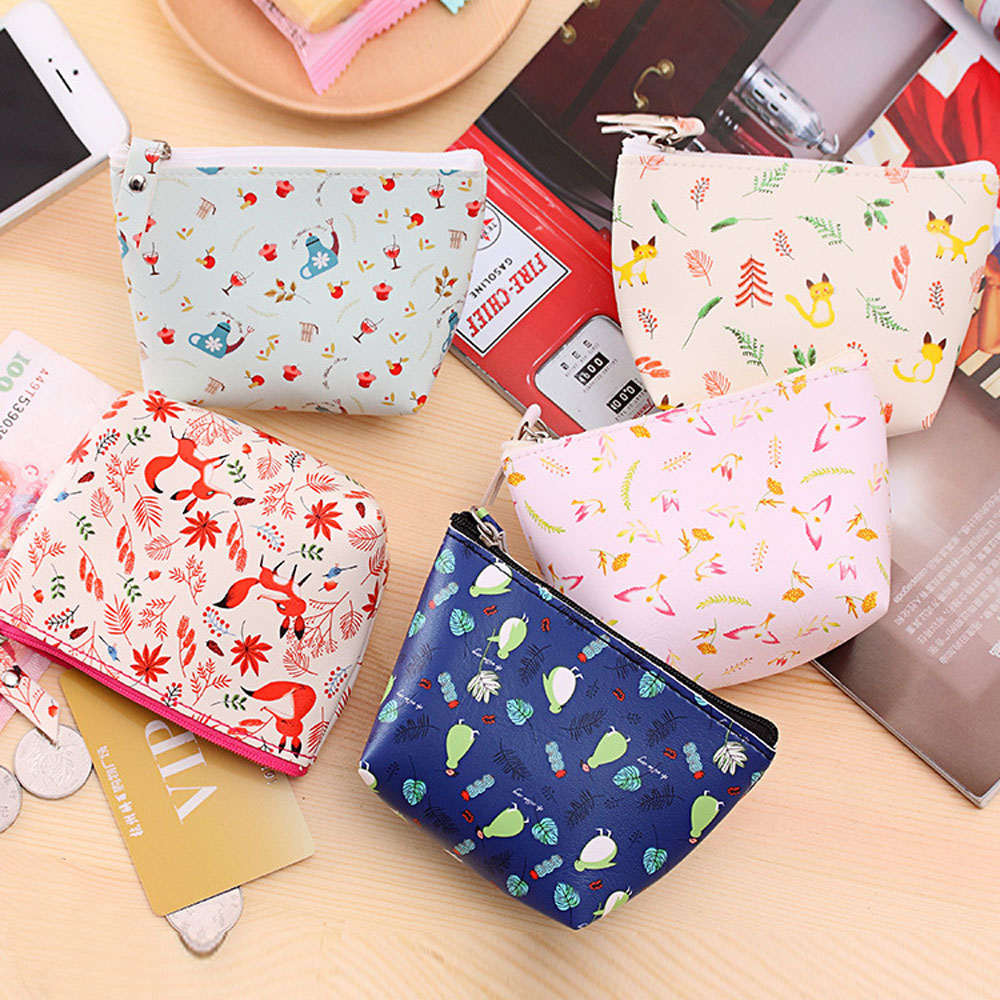 Women Coin Purse Girls Cute small Leather Wallets Change Pouch Key Holder Bag bolsas carteira feminina coins de moeda pouch