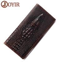 JOYIR 3D Alligator Cow Leather Men Wallets Luxury Business Crocodile Male Clutch Wallets Card Holder Men