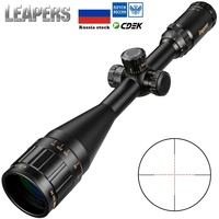 LEAPERS 4 16X50 Riflescope Tactical Optical Rifle Scope Red Green D Sight Illuminated Sight Tactical Hunting Accessories