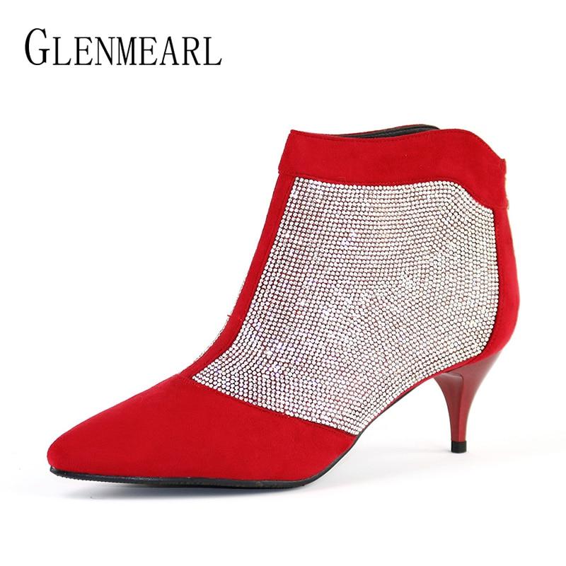 Zapatos de mujer de invierno Botines Tacones altos Marca Rhinestone - Zapatos de mujer - foto 3