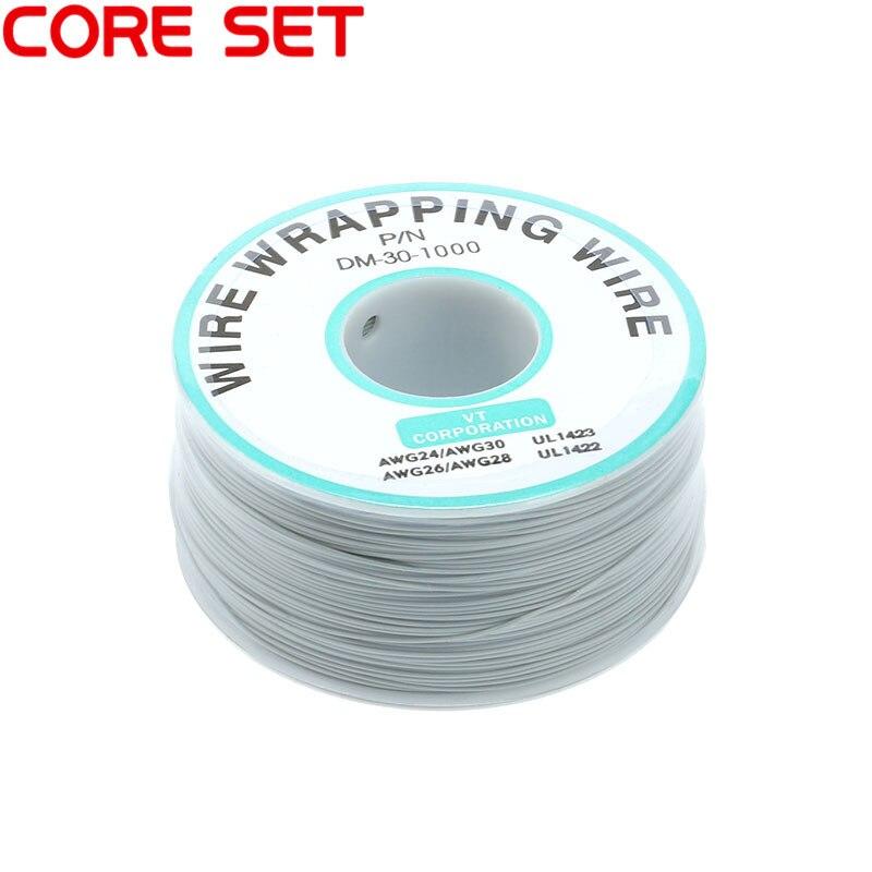 250 м/лот 30 AWG оберточный провод 10 цветов одножильный медный кабель Ok провод электрический провод для ноутбука Материнская плата PCB припой - Цвет: Gray