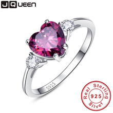 Heart Genuine Garnet Ring 925 Sterling Silver engagement ring Stunning Fabulous Design Hot Sale Promotion Best Gift For Friend