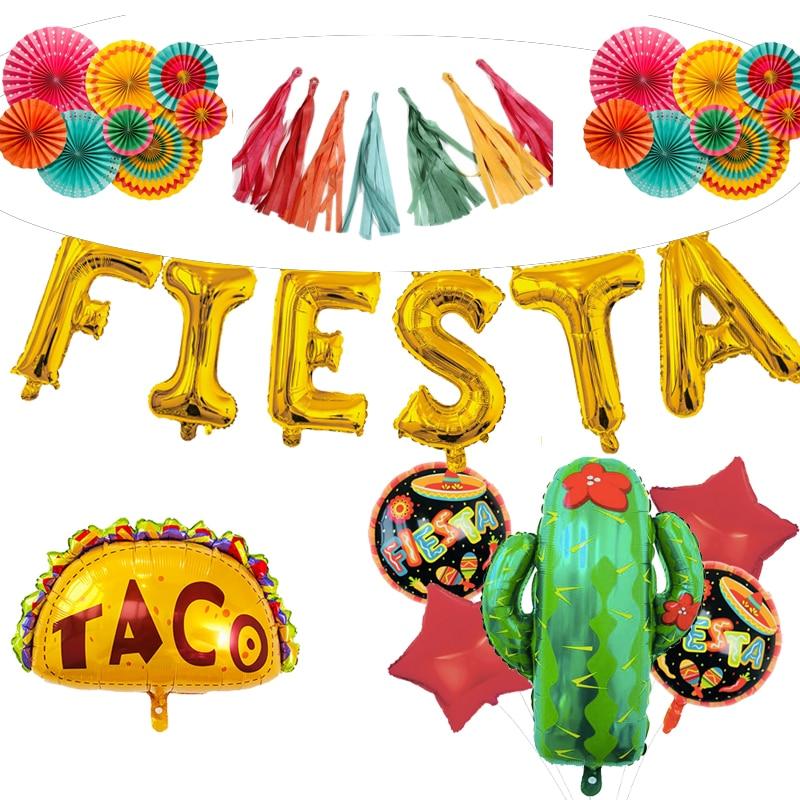 Mexican party FIESTA decorations banner ALOHA taco cactus balloon hawaii summer aluminium foil helium balloonMexican party FIESTA decorations banner ALOHA taco cactus balloon hawaii summer aluminium foil helium balloon