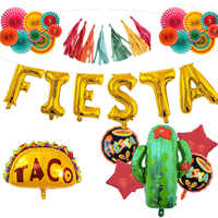 Tema de Fiesta mexicano decoraciones de Fiesta de cumpleaños niños papel de aluminio Cactus Taco Bout una Fiesta bebé Taco Bout amor globo Globos