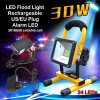 Waterproof IP65 24LED 30W LED Flood Light Portable SpotLights Rechargeable Floodlight Outdoor LED Work Emergency Light