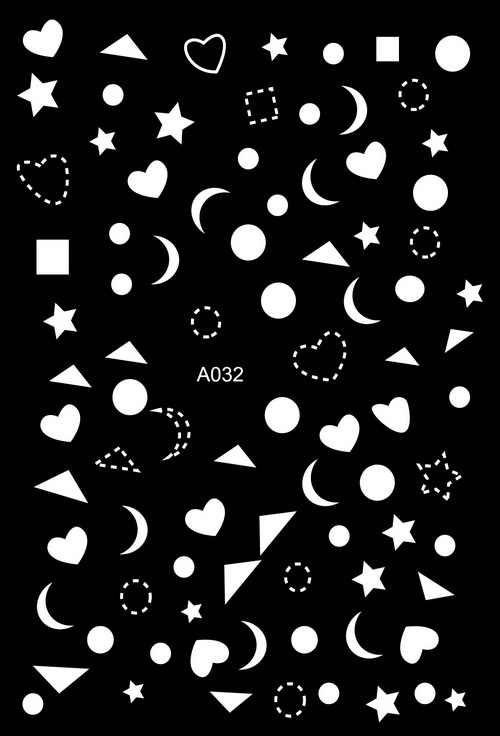 3D Putih! Kuku Seni Manikur Kembali Lem Stiker Dekorasi Desain Stiker Kuku untuk Kuku Tips Kecantikan