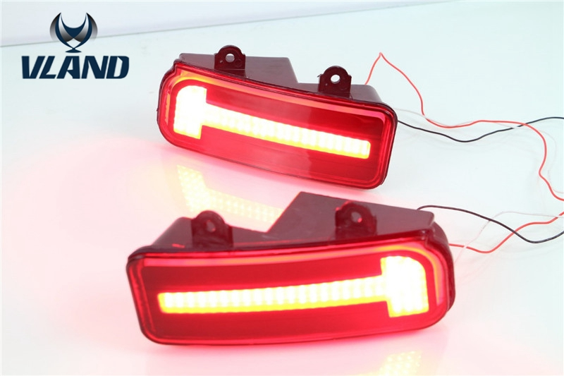 Free shipping vland factory For Honda CRV 2 Pcs Tail Rear Bumper Light LED Reflector Stop Brake Fog Lamp eemrke for fiat freemont led angel eye drl daytime running lights halogen h11 55w fog lamp light