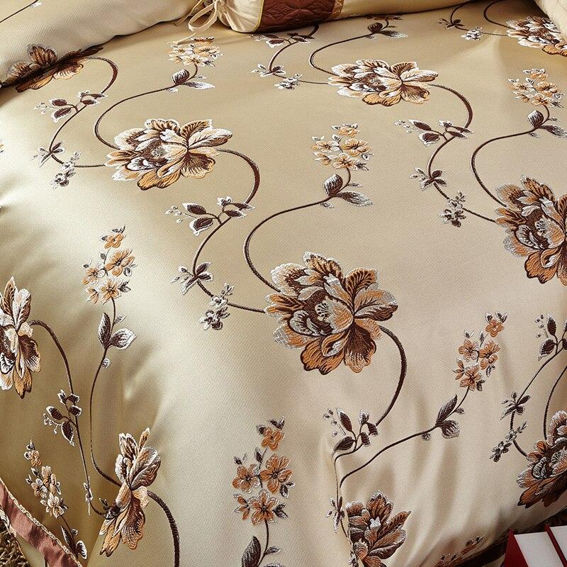 Svetanya مجموعة الفراش مجموعات الملكة الملك الحجم سرير في كيس واحد الحرير الجاكار الساتان القطن مزيج نمط دوفيت تغطية مجموعة-في مجموعات الفراش من المنزل والحديقة على  مجموعة 3