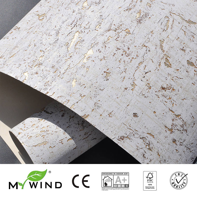 2019 MY WIND Grey With Gold Wallpapers Luxury 100% Natural Material Safety Innocuity 3d Wallpaper In Roll Home Decor Luxurious
