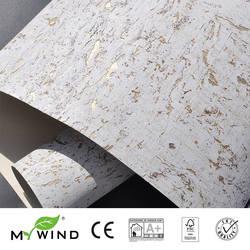 Papier peint MY WIND 2019 gris avec or | Papier peint 3d luxueux en rouleau, matériau naturel, sécurité, décoration luxueuse pour la maison