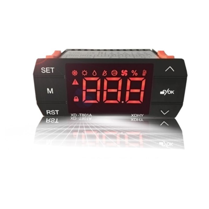 Digital Temperature & Humidity Controller Thermostat For Incubator Greenhouse Breeding Hatching 649E