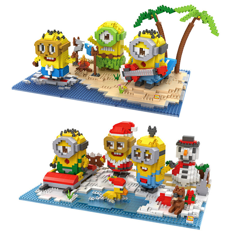 LOZ Minions Series Diamond Building Blocks Mini DIY Toys Bricks Children Educational Intelligence Toys