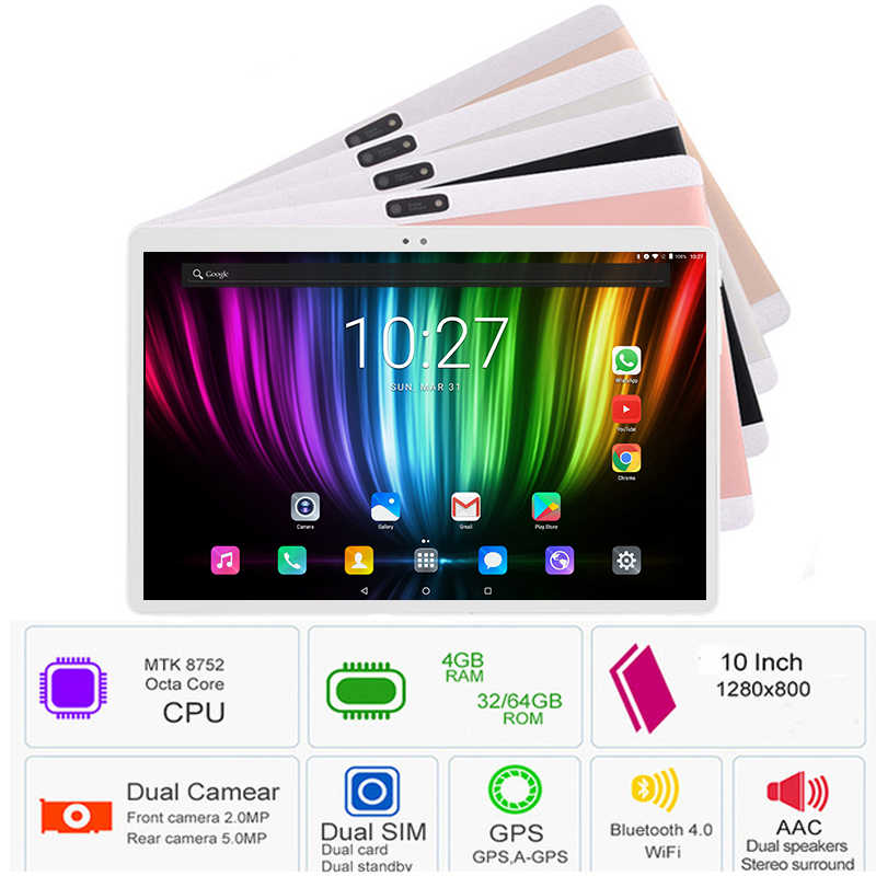 Youtube/Skype/New Google Play Support 10 inch tablet PC 3G 4G LTE Android 8.0 Octa Core 8 Core 4GB RAM 64GB ROM WiFi GPS G-Senor