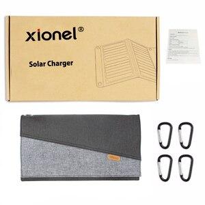 Image 5 - Xionel 28W עמיד למים נייד שמש מטען עם פנל סולארי USB הכפול יציאות עבור טלפון נייד