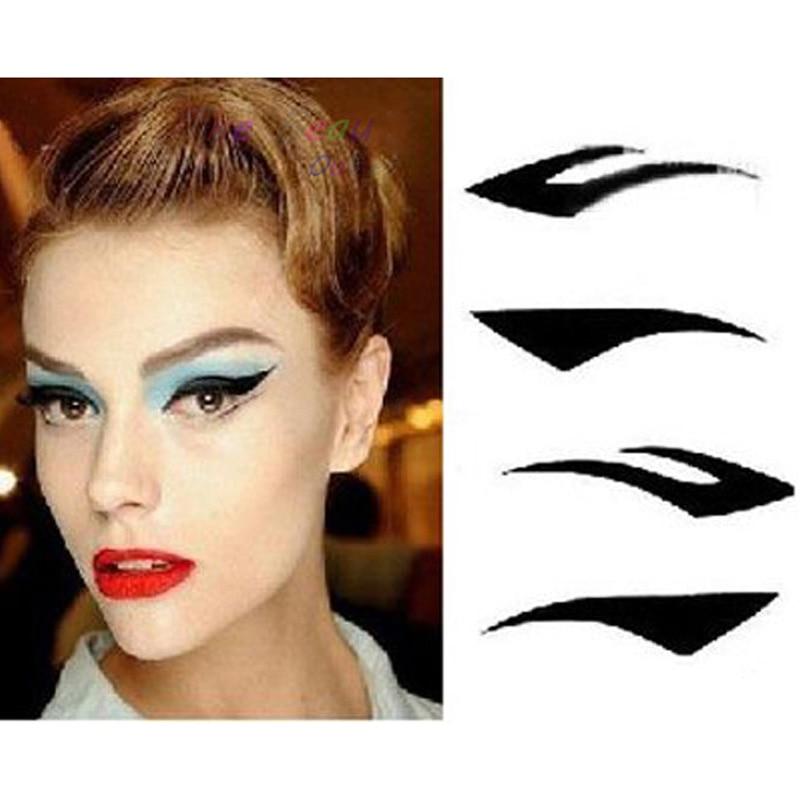 1sheet 4pairs black eye line art tattoos temporary eye for Eye temporary tattoo makeup
