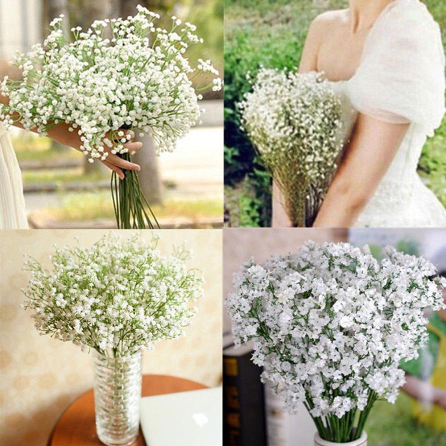 2017 beautiful gypsophila baby 39 s breath artificial fake for Artificial flower for wedding decoration