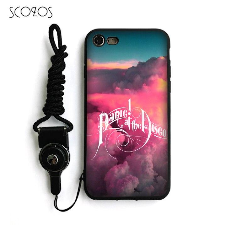 SCOZOS Panic At The Disco Silicone TPU Phone Case Soft Cover For IPhone X 5 5S Se 6 6S 7 8 6 Plus 6S Plus 7 Plus 8 Plus #na142