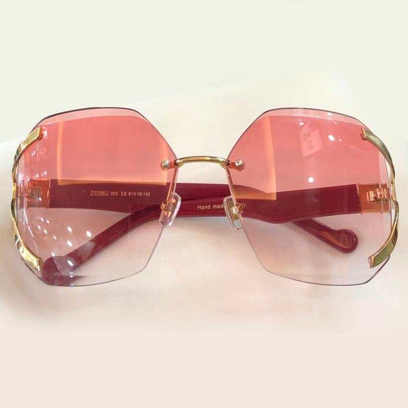 Qualität Sommer No1 Uv400 Sunglasses De Frauen Mit Sonnenbrille Sunglasses Mode no4 Box Sol Gradienten Shades Objektiv Oculos Sunglasses Marke Hohe Sunglasses 2018 Feminino Randlose no2 no3 xwUtzqx6C