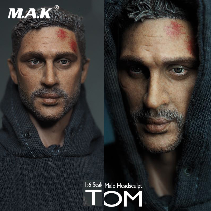 1//6 Tom Hardy Male Head Sculpt War-damaged Ver.Fit 12/'/' Body figure action