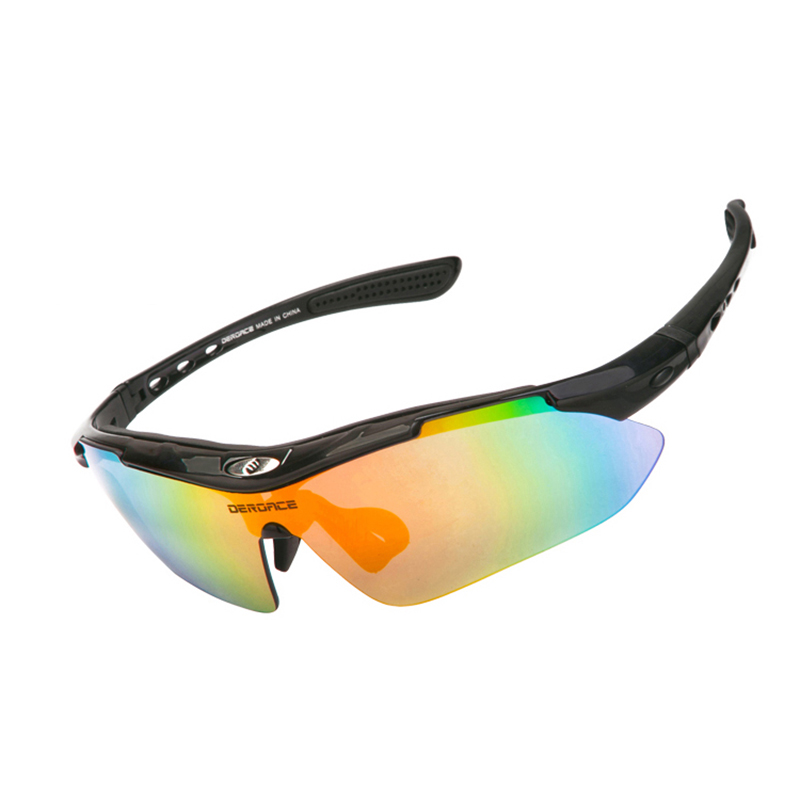 DEROACE Cycling Glasses Multi Polycarbonate Unisex Glasses Cycling Sunglasses Rockbros Bicycle Accessories Eyewear Bike Goggles