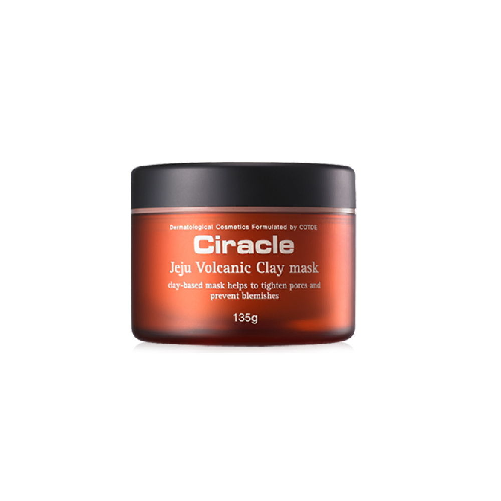 Korea Cosmetic CIRACLE Jeju Volcanic Clay Mask 135g Face Mask Blackhead Pores Sebum Acne Treatment Mask Shrink Pores Skin Care