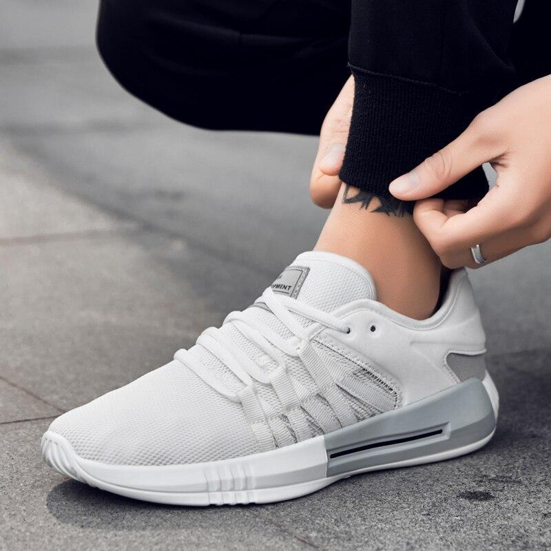 Da Os Três Casual branco Qualidade Respirável Sapatas up Alta Confortável Sapatos Calçado Novos Cores Estilo Lace Azul Sneaker Homens Dos vermelho De Moda Adulto YgqEI