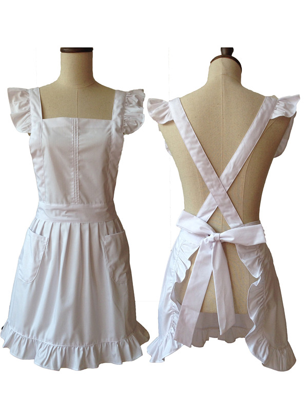 White Kitchen Apron online get cheap back apron -aliexpress | alibaba group