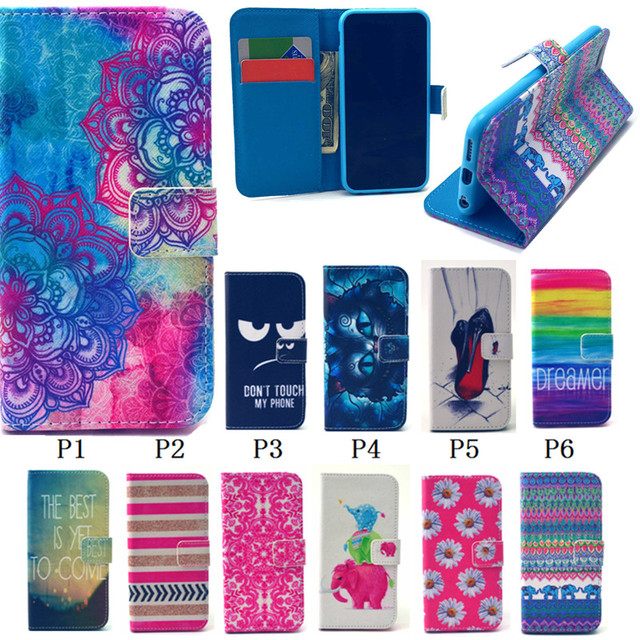 new PU Leather Flower & Pineapple & Elephants Stand Style Flip Card Holder Wallet Cover Case For iPhone 6 plus 6S 5.5 inch