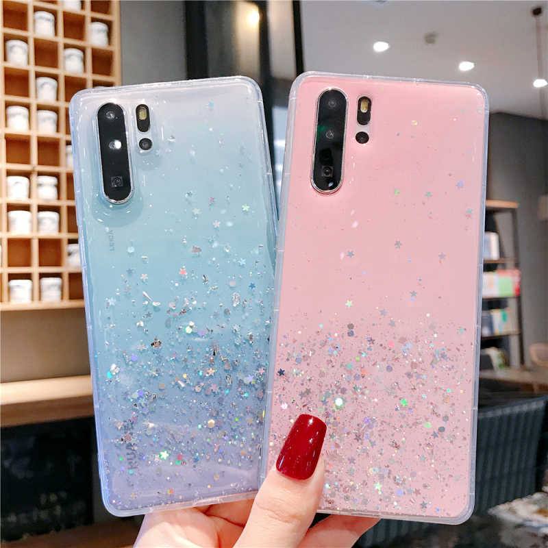 Soft Silicone Case For Huawei Mate 20 P10 P20 P30 Pro P Smart honor V 20 Pro 10 Lite Nova 3i 3e 4e Bling Sequins Glitter Cover