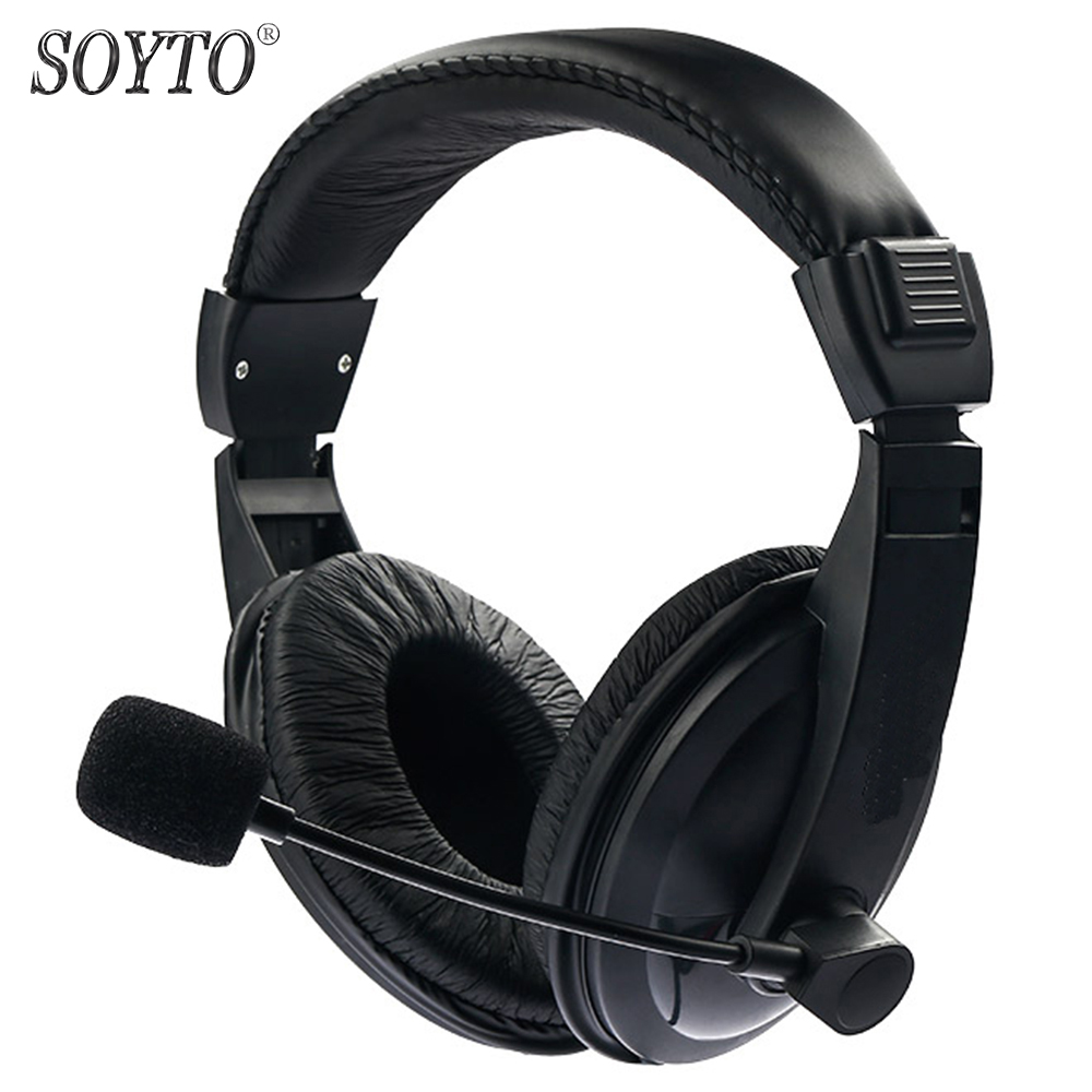 SOYTO SY750MV Original Wired Stereo Bass Headset Gaming Hodetelefoner Fone de ouvido Hodetelefoner med Mic for mobiltelefoner PC
