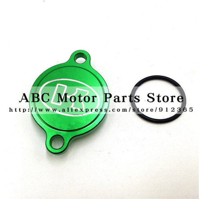 Green CNC Billet Oil Filter Cover For Kawasaki KX250F KX 250F KXF250 2004-2015 MX