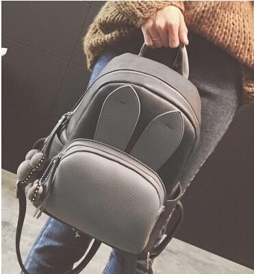 Fashion newest women girl cute pu leather backpack simple campus student school bag backpack h0568 рюкзак girl pu yt00172334