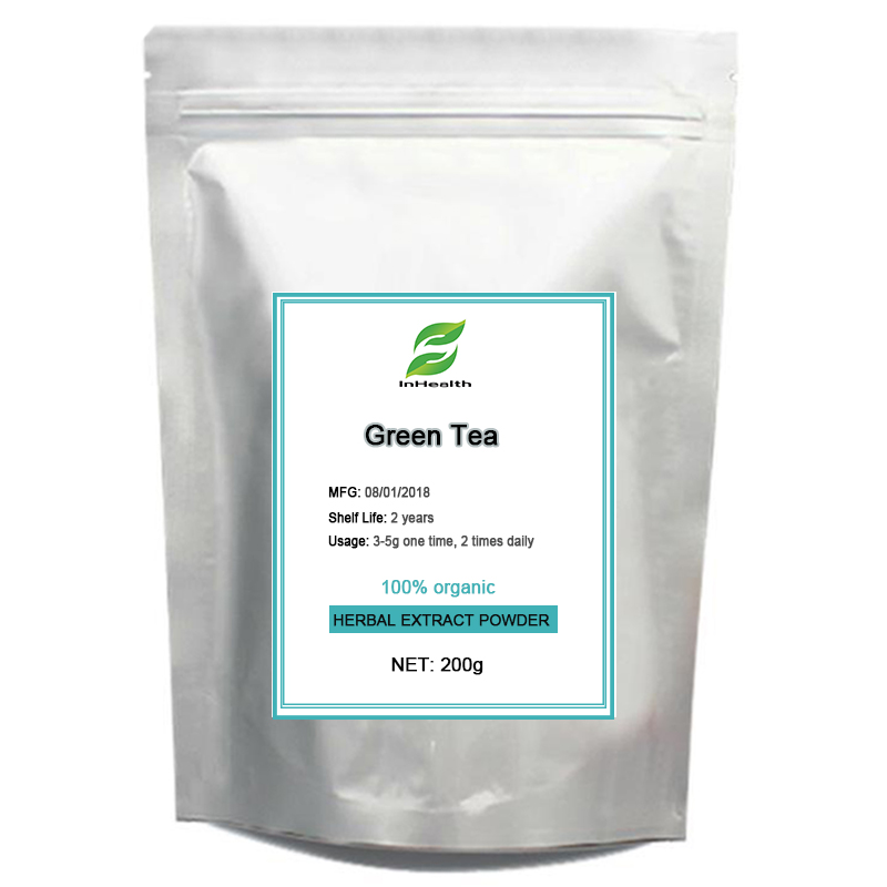 GMP Certified Green Tea Extract with EGCG for Weight Loss Pills for Metabolism Green Tea polyphenols 98% QS, ISO etc 200g 1kg green tea extract egcg 98% catechin natural epigallocatechin gallate