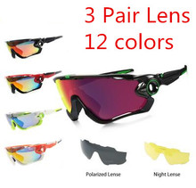 3 Pair Lens UV400 JBR Polarized Cycling Glasses TR90 Frame Eyewear Bicycle Sunglasses Sport oculos jbr Mountain Bike goggles