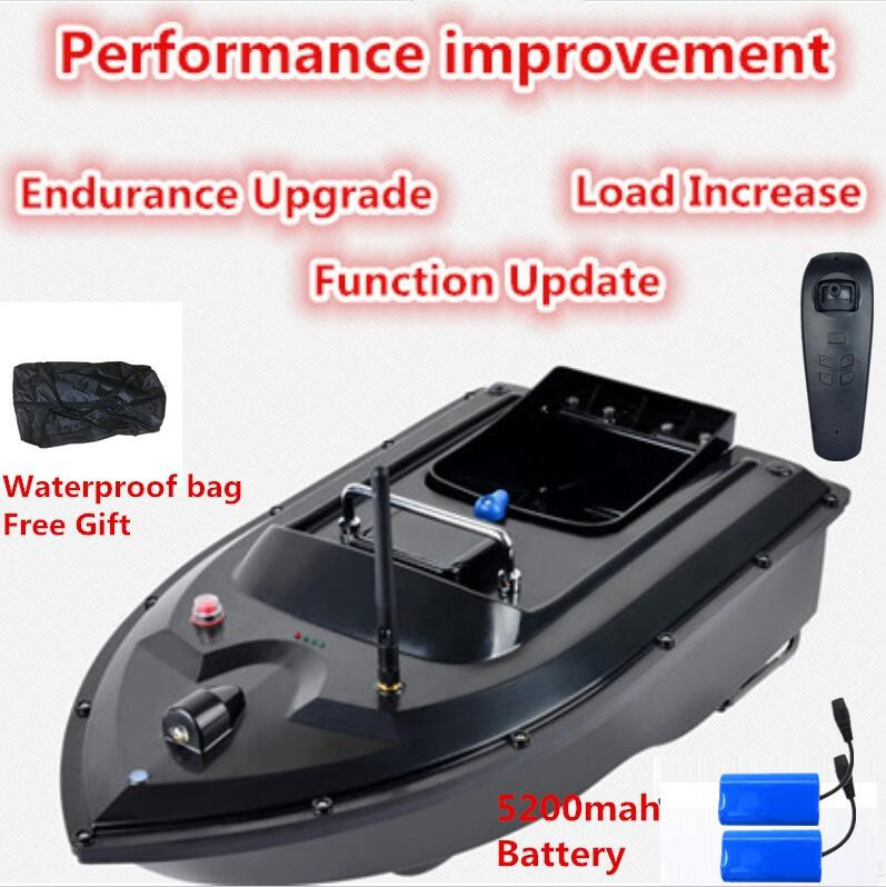 Free Waterproof Bag 180Mins 500m RC Distacne Auto RC Remote Control Fishing Bait Boat Fish Finder Ship Boat wth 5200mah battery