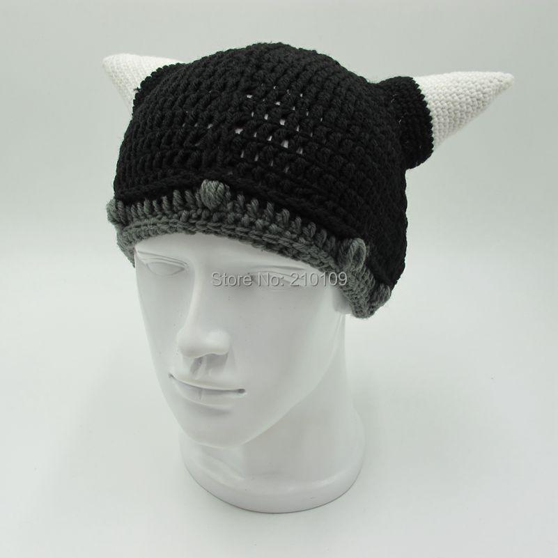 Mr. kooky Vikings Horn Beanie mujeres hombres casco sombrero hecho a ...