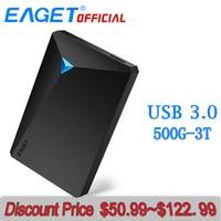 EAGET HDD Hard Disk Encryption External Hard Drive Disk USB 3.0 High Speed 500GB 1TB 2TB 3TB Desktop for Laptop Computer Phones