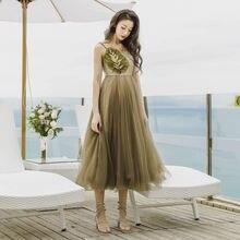 Женское пляжное платье с открытой спиной повседневное однотонное