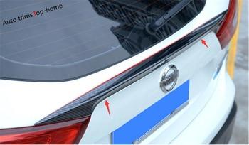 Yimaautotrims effet de coffre arrière Spoiler décoration panneau couverture garniture adapté pour Nissan Qashqai J11 2014-2018 ABS aspect Fiber de carbone