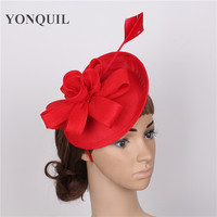 EVER FAIRY 22cm New Women DIY Flower Fascinator Sinamay Hat Girls Wedding Party Church Fascinator Base