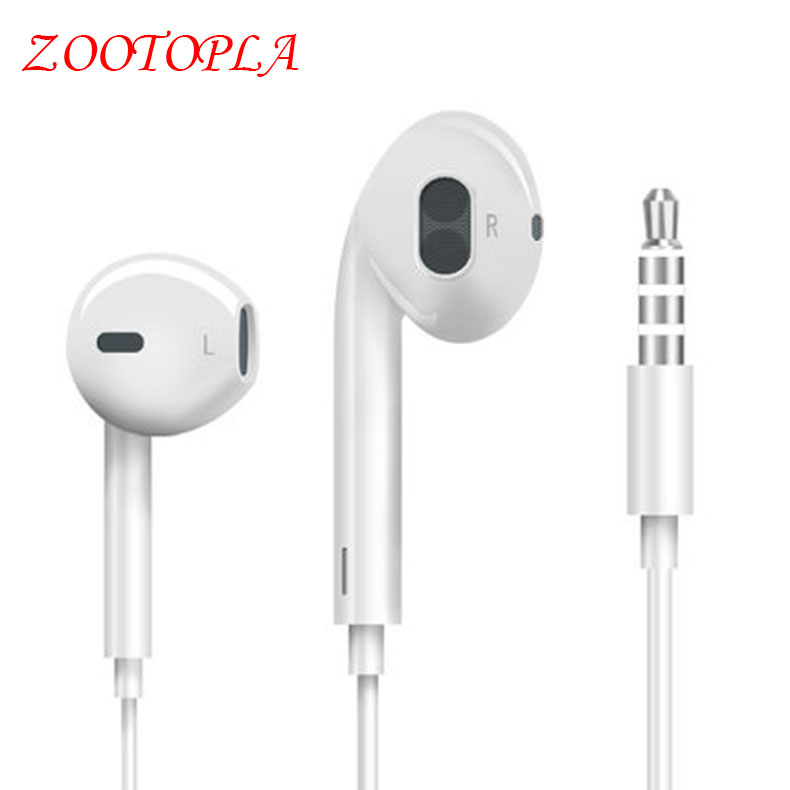 Earphone zootopla Stereo Headset Half In-ear Earbuds with Microphone For Mobile Phone Xiaomi iPhone 5 5s 6 6s m320 metal bass in ear stereo earphones headphones headset earbuds with microphone for iphone samsung xiaomi huawei htc