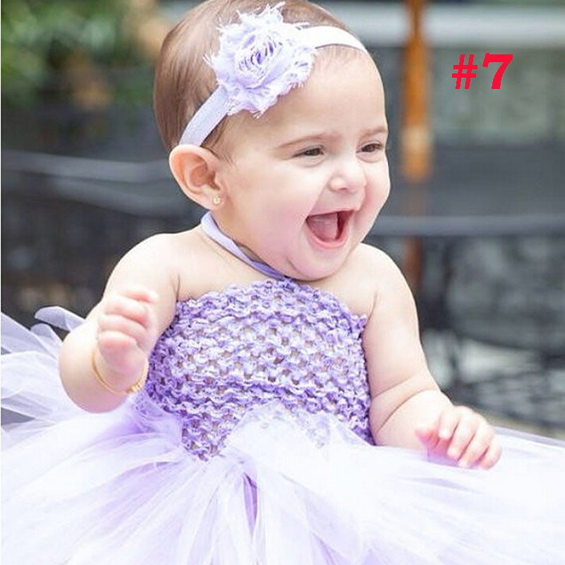 Toddler Girls Fancy Princess Tutu Dress Holiday Flower Double Layers Fluffy Baby Dress with Headband Photo Props TS044 23