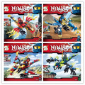 4 unids/lote sy249/712/706/753 bloques de construcción ninjago dragon rider fighter serie tornado luchador spinjitzu minifiguras los juguetes del bebé