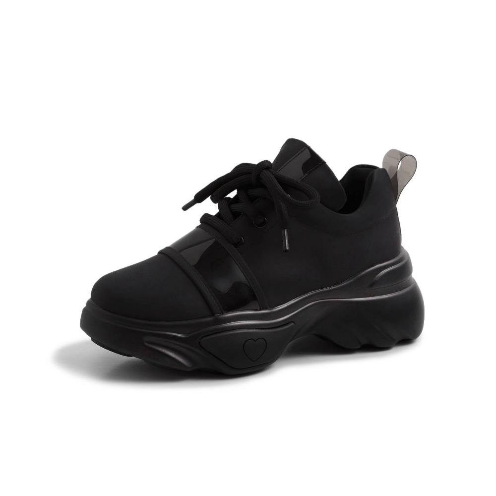 Femmes En Krazing Pot blanc Sneakers Plate Beau Naturel Lacets Épais À forme Respirant Taille Chaussures Grande Fond Vulcanisées L32 Filles Cuir Noir m8nN0vwO