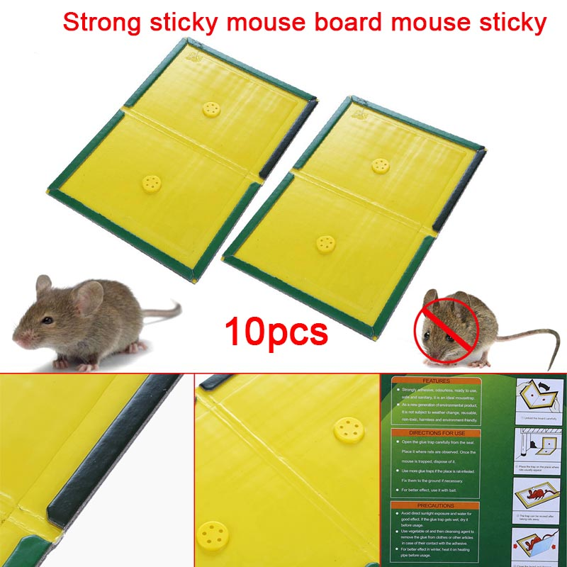 Image 5 - 10Pcs Trapper Max Sticky Glue Mice Traps Board Rodent Mouse Snake Bugs Safe Tools HG99-in Traps from Home & Garden