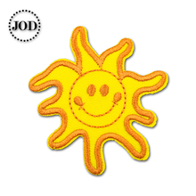 Sun 5x5.5cm Embroidered Patches for Clothing Iron on Clothes Patch Children DIY Sew on Applications Applique Sewing Accessories girl 6x4cm small embroidered patches for clothing iron on clothes patch children diy sew on applications applique sewing cartoon