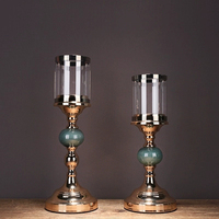 Chinese Style candle holder Romance Ceramics Candlestick Decoration Candle Stand Holder Modern Flower Rack WZF245