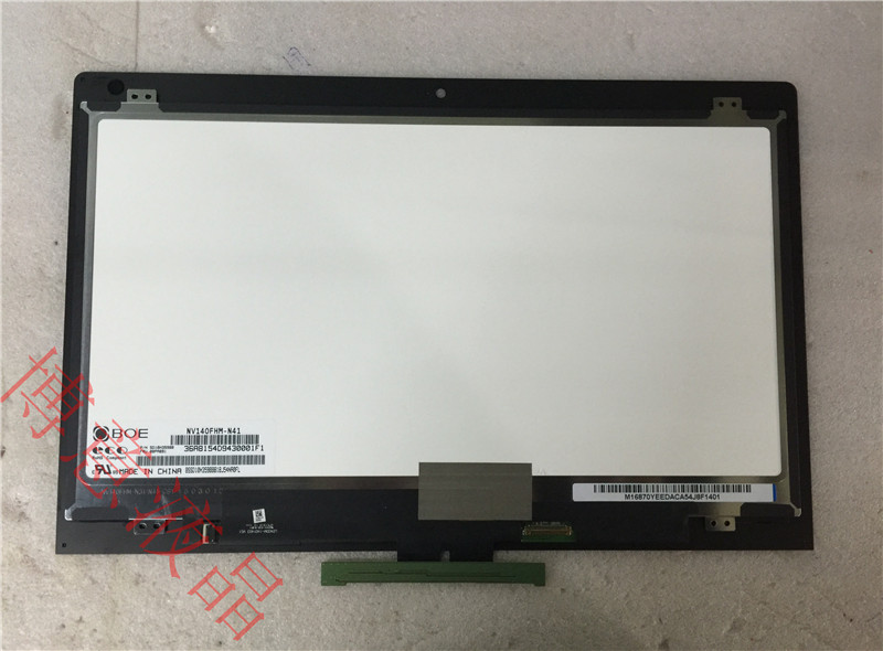 New Original for Lenovo Ideapad Yoga 3 14 Lcd Touch Screen Panel W/ Bezel NV140FHM-N41 00PA891