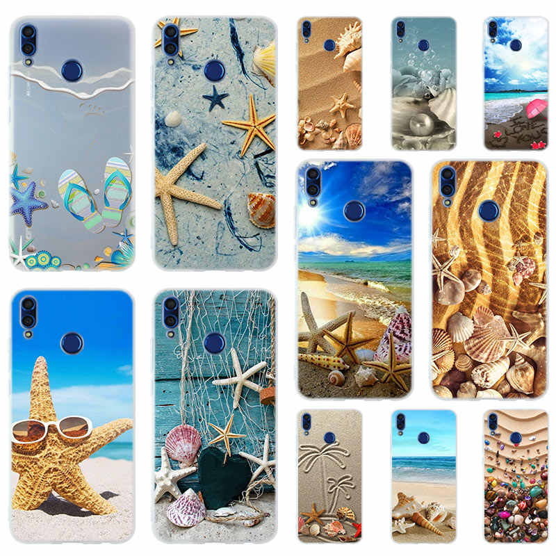 Summer Beach Landscape Pattern Soft Silicone Case Cover For Huawei Honor 9 10 Lite 6X 7X 8X Max Phone case 7A 8A 8C V20 PLAY 10i