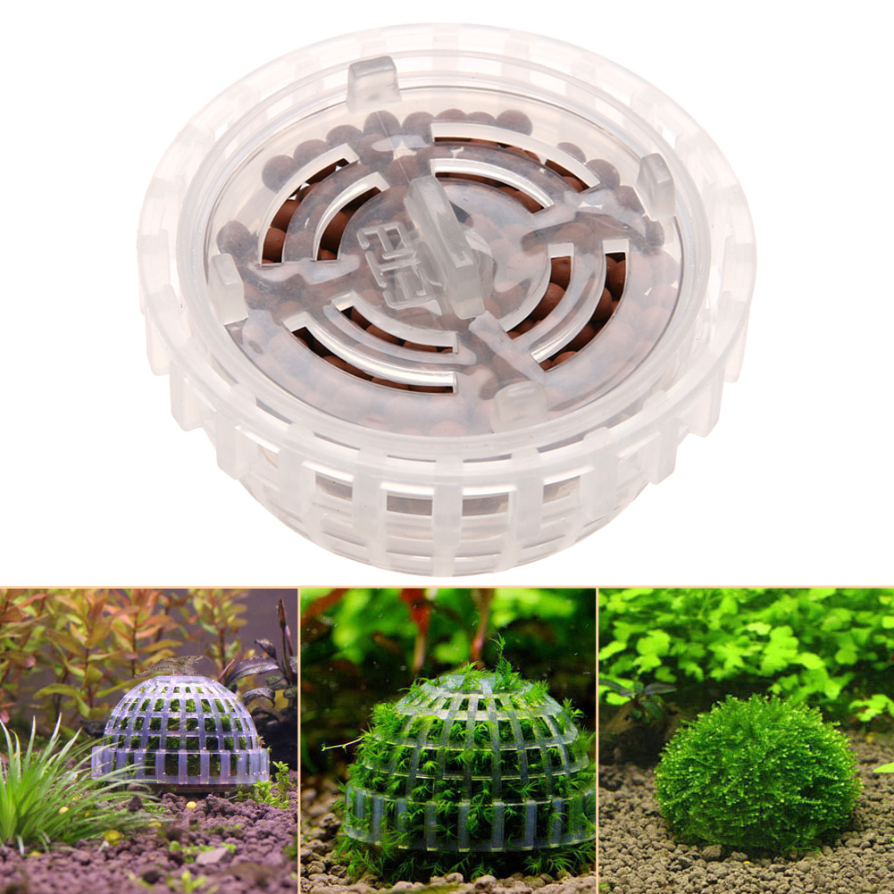 Aquarium fish tank diy - 5cm Plastic Aquarium Fish Tank Media Moss Ball Filter Decor For Diy Live Plant Aquarium Decoration